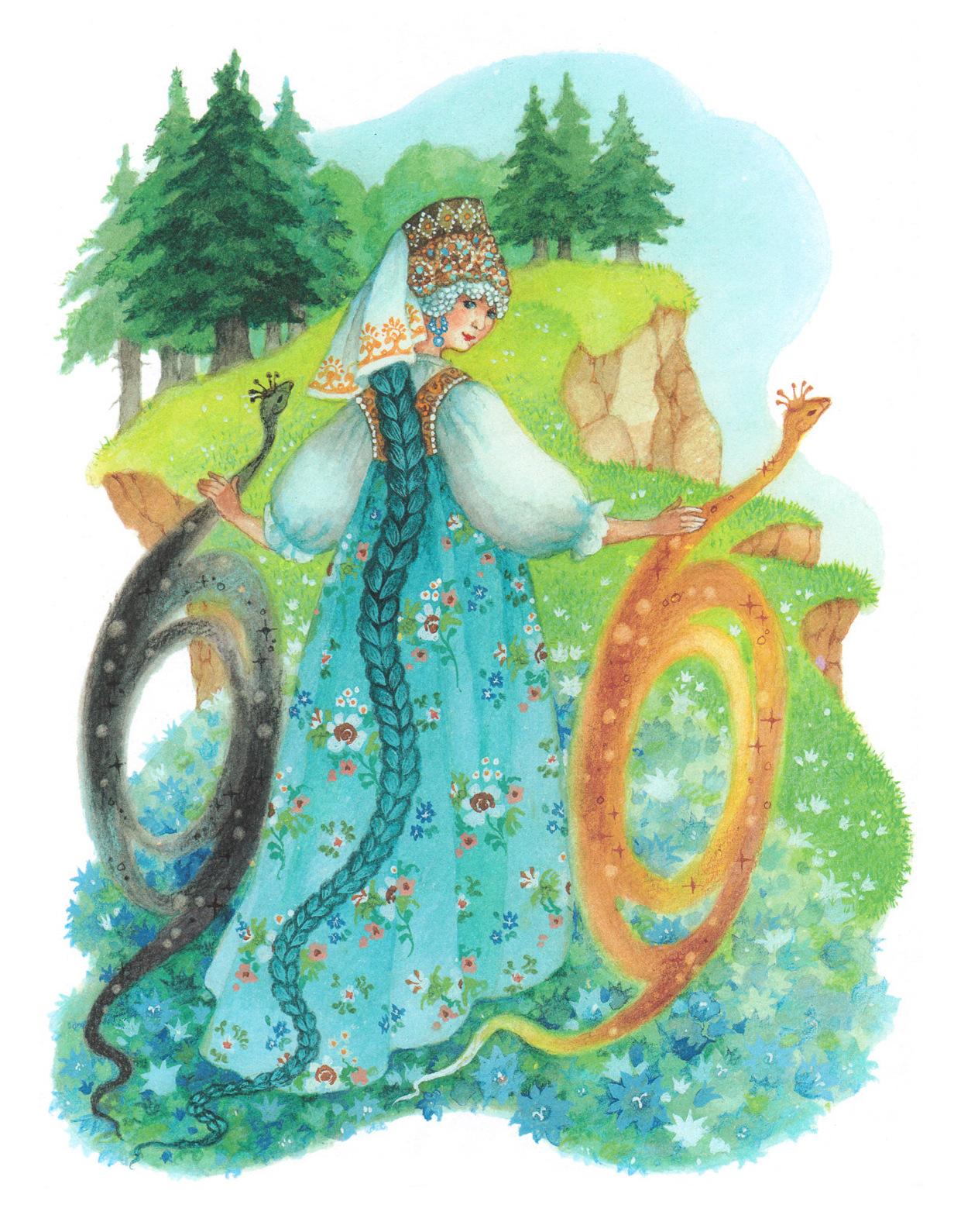 Картинки сказки бажова голубая змейка, цветы женщине картинка